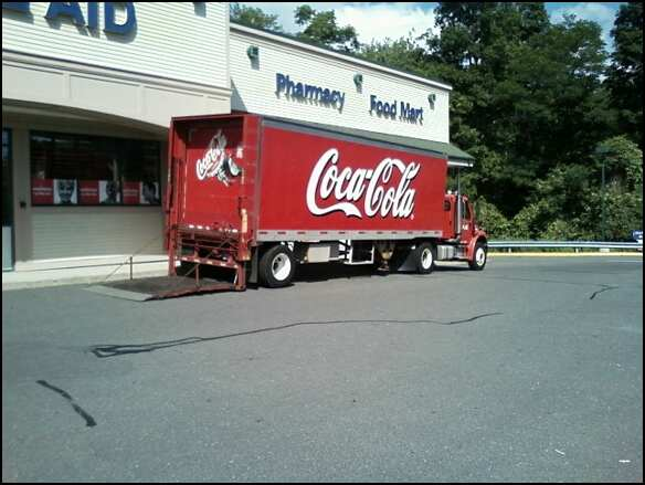 Coca-Cola truck unloading in Connecticut. Photo by Katelyn Avery.