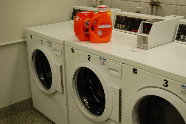 College laundry room. Photo by Katelyn Avery.